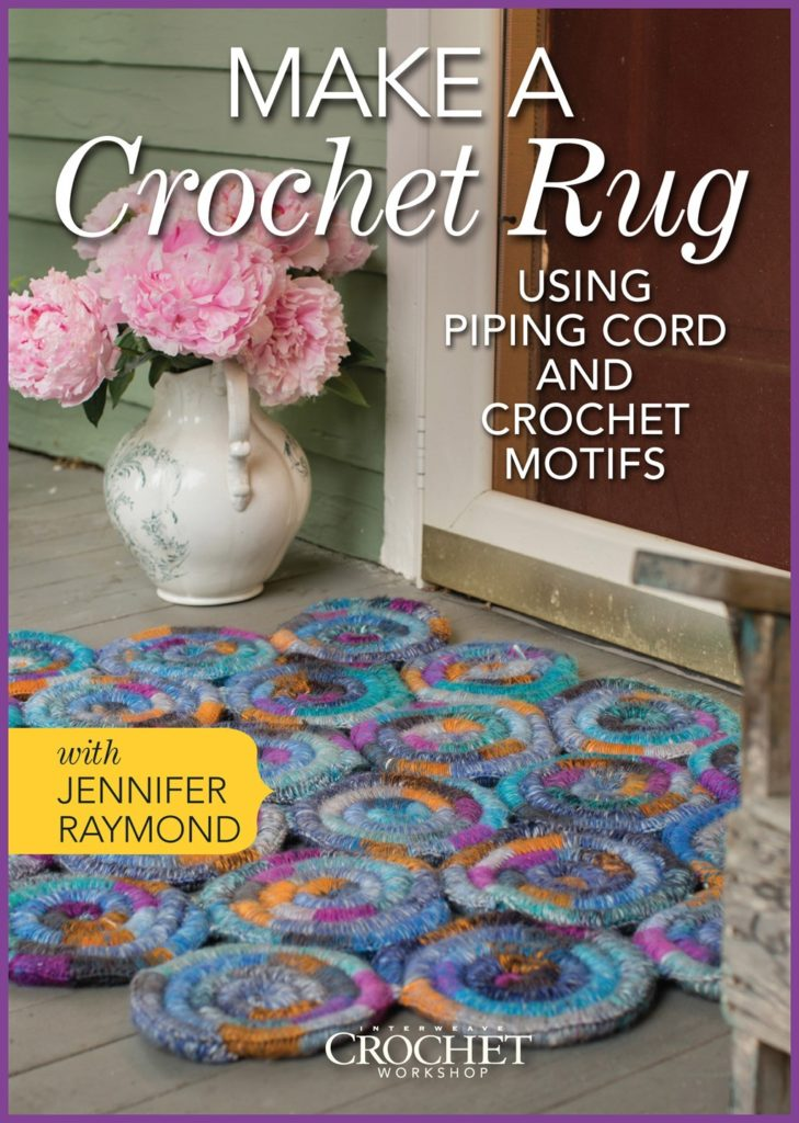 Make a Crochet Rug Using Piping Cord and Crochet Motifs