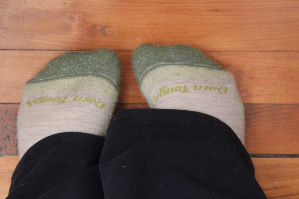 Wearing Wasabi Darn Tough Socks