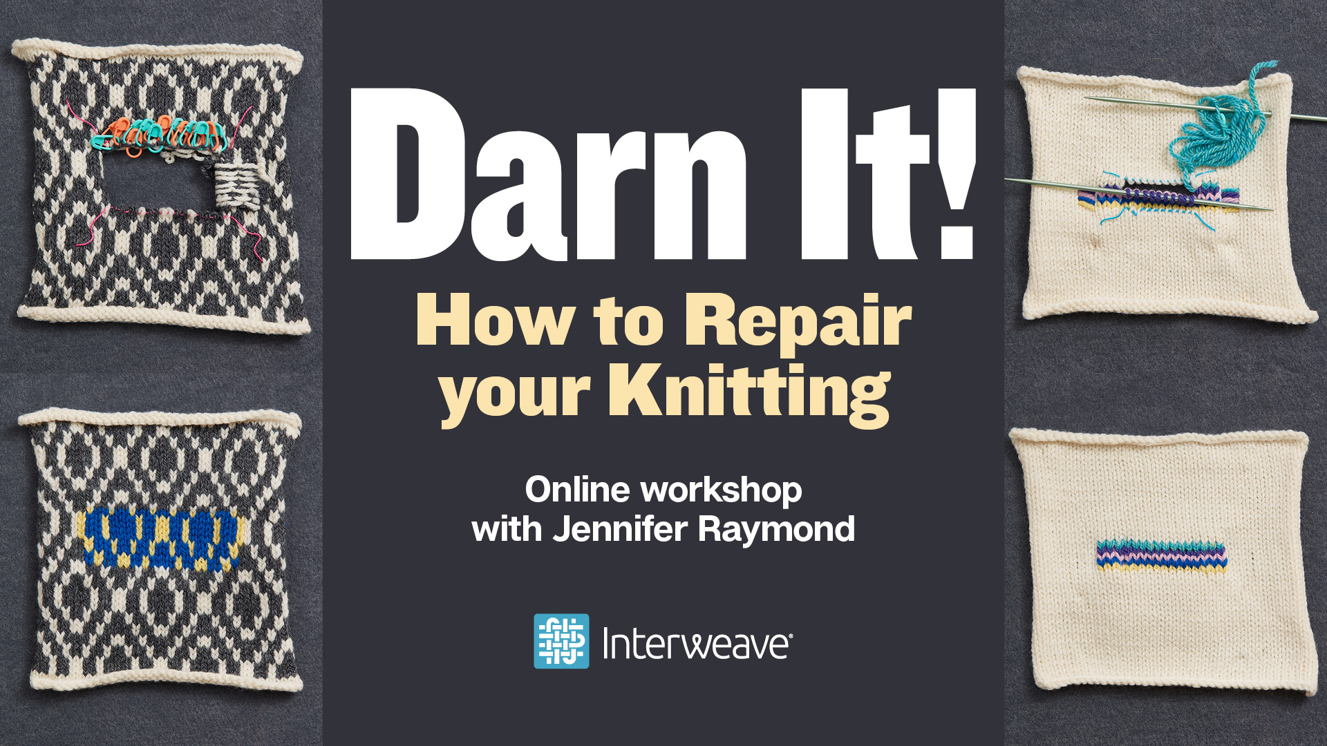 c9eaee0c9c1588 I've been working on my new class from Interweave, Darn It! How to Repair  your Knitting for several years. Since I began offering repair courses, ...